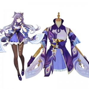 Game Genshin Impact Keqing Cosplay Costume