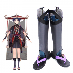Game Genshin Impact Scaramouche Cosplay Shoes