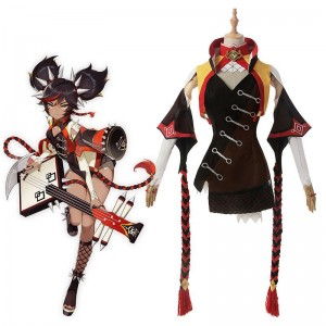 Game Genshin Impact Xinyan Cosplay Costume