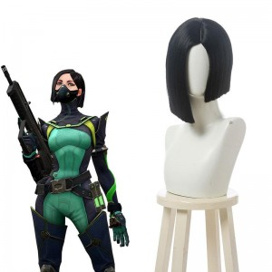 Game Valorant Project A Viper Black Cosplay Wigs