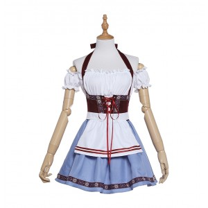 Oktoberfest Wine Lady Costume Blue