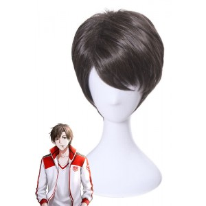 Glory Mr.Ye Short Brown Synthetic Man Anime Cosplay Wigs
