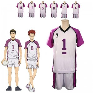 Haikyū!! Karasuno High School vs Shiratorizawa Academy Semi Eita Number 3 Volleyball Sportswear Cosplay Costumes