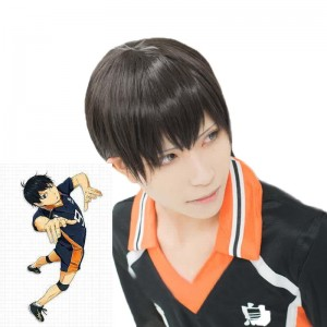Haikyū!! Tobio Kageyama Short Black Anime Cosplay Wigs