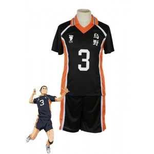 Haikyū!! Azumane Asahi Number 3 Volleyball Sports Cosplay Costumes