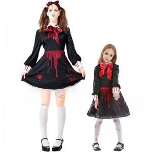 Halloween Children Horror Ceramic Doll Cosplay Costume