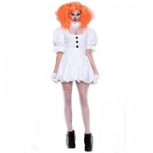 Halloween Ghost Doll Clown Dress Cosplay Costume