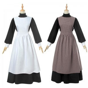 Halloween Vintage Dress Two Colors Cosplay Costume