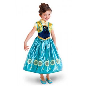 New Anna Kid Princess Blue Dress Cosplay Costume for Kids