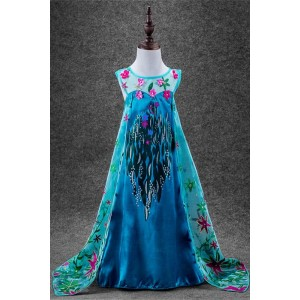 New Style Elsa Princess Dress Cosplay Costume