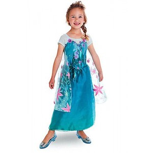 New Elsa Dree Cosplay Costume For Beautiful Girl Kids Children