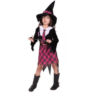 Baby Clothing Sets Unisex Halloween Children Female Witch Suit Cosplay Costume