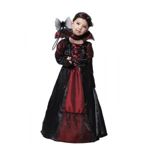 Halloween Girl Kid Vampire Dress Cosplay Costume