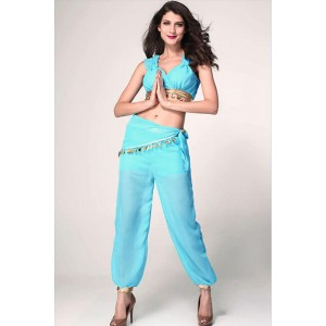 Blue Sexy Sweet Genie Cosplay Costume for Halloween Performance