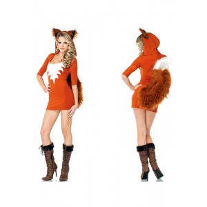New Halloween Costume Sexy fur fox Costume fox animal mascot costume