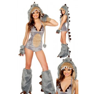 Halloween sexy women fur animal shark cosplay costume