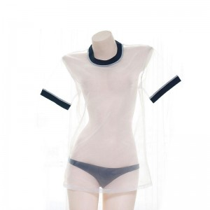 Japanese Sexy Transparent Gymnastics Clothes Cosplay Costume