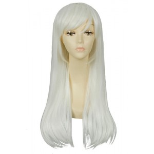 60CM Long Straight White Kantai Collection Shimakaze Cosplay Wig