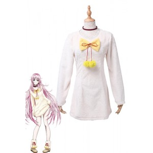 K Project Neko V Neck Wool Plush Sweater Dress Cosplay Costume