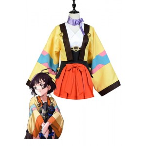 Kabaneri of the Iron Fortress Mumei Anime Cosplay Costumes Kimonos