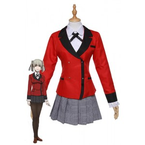 Kakegurui Momobami Kirari Red Uniform Cosplay Costumes