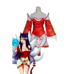 League Of Legends the Nine-Tailed Fox Cosplay Dress Ahri Cosplay Costume