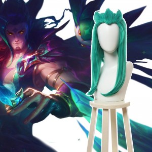 LOL Star Guardian Rakan Green Long Cosplay Wigs