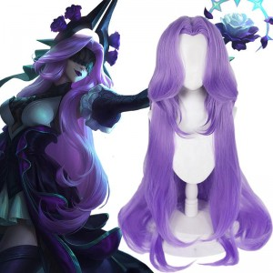LOL Withered Rose Syndra Purple Long Cosplay Wigs