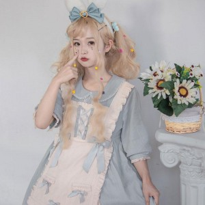 Lolita Dress OP Cute Bowknot Daily 2 Colors Cosplay Costume