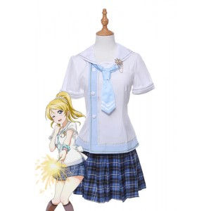Love Live!! Ayase Eli Daily Sailor Uniform Dresses Skirts Cosplay Costumes