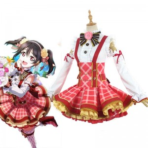 Love Live Bouquet Awaken Yazawa Nico Bright Red Dress Anime Cosplay Costumes