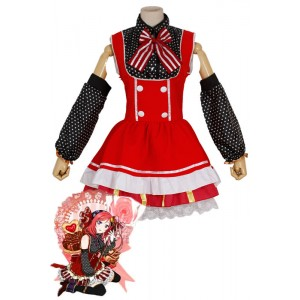 Love Live! Nishikino Maki Red Lovely Cosplay Costumes