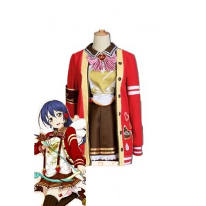 LoveLive Valentine's Day Sonoda Umi Short Dress Suit Cosplay Costumes