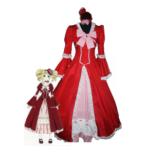 Lovely Princess Red Sweet Grace Black Bulter Elizabeth Cosplay Costume
