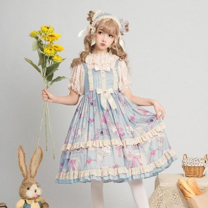 Memory bouquet JSK Cute Lolita Dress Daily Cosplay Costume1