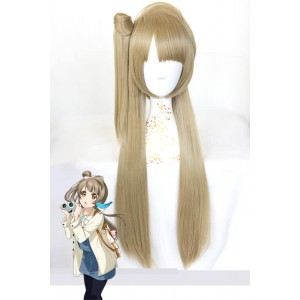 Love Live 80cm Long Straight Flaxen Minami Kotori Daily Hair Cosplay Wigs