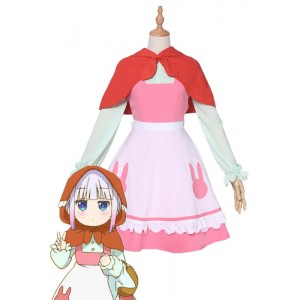 Pre-sale Miss Kobayashi's Dragon Maid Kanna Kobayashi Little Red Riding Cosplay Costumes