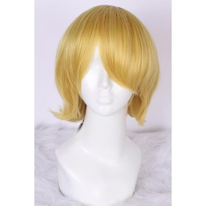 Maid Sama 25cm short butterscotch blonde straight  Usui Takumi Cosplay party wig