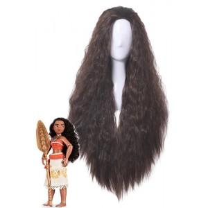Moana Moana Brown Long Curly Movie Coaplay Wigs