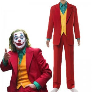 Movie Joker 2019 Joker Halloween Male Suit Cosplay Costume