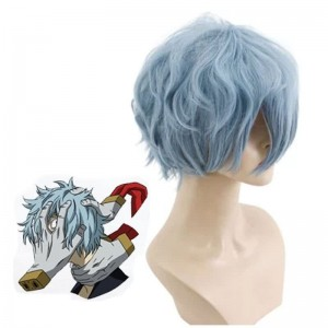 My Hero Academia Anime Shigaraki Tomura Blue Short Cosplay Wigs