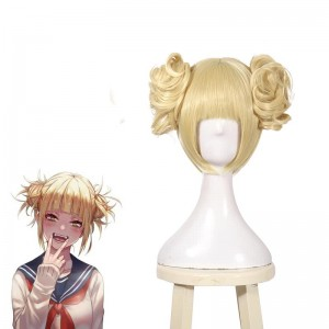 My Hero Academia Himiko Toga Short Blonde Anime Cosplay Wigs Hair Wigs JF271
