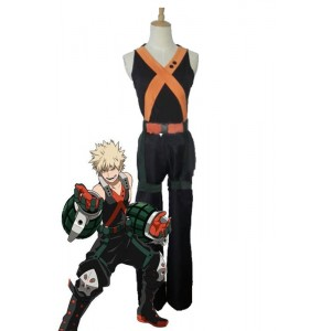 My Hero Academia Katsuki Bakugō Anime Cosplay Costumes Battle Costumes