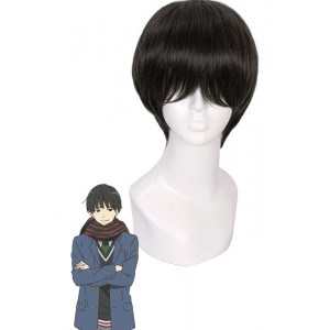 20cm Nase Hiroomi Cosplay Wig Short Black Hair