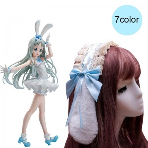 Plush Lolita Bow Bunny Ears Cosplay Headwear