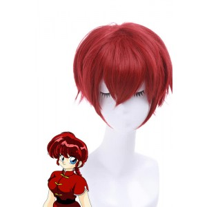 Ranma ½ Dark Red Ranma Saotome Short Cosplay Wig Women Hair