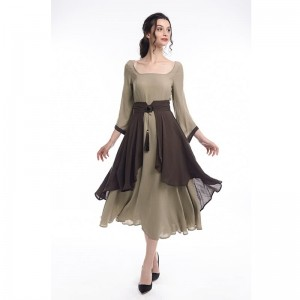 Retro Linen Long Dress and Waist Skirt Cosplay Costumes
