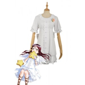 Love Live Sunshine Angel Aqours Unawaken Riko Sakurauchi White Dress Anime Cosplay Costumes