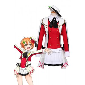 Love Live! Rin Hoshizora Red Cosplay Costume