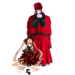 Rozen Maiden Shinku Lolita Red Maid Dress Cosplay Costumes